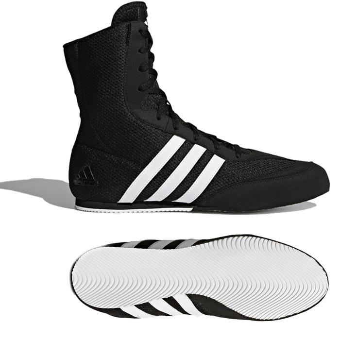 wylot Pierwsze spojrzenie zakupy Adidas BOX HOG 2 - Buty Bokserskie- czarno białe